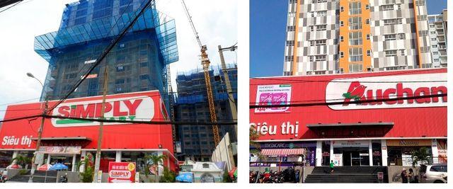 Nhà bán lẻ này đã phải nhiều lần thay đổi nhận diện thương hiệu tại Việt Nam. Trước đây là S.Mart, sau đó được đổi thành Simply, nay là Auchan.