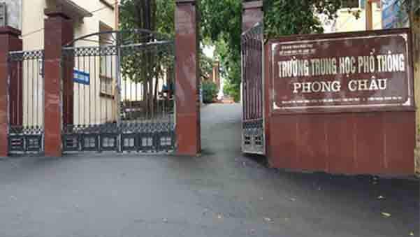 Trường THPT Phong Châu huyện Lâm Thao tỉnh Phú Thọ