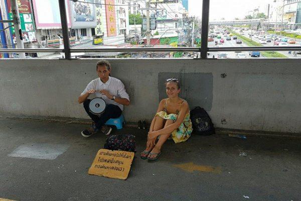 Bạn có thể bị phạt tù 2 năm nếu cho tiền người ăn xin ở Thái Lan