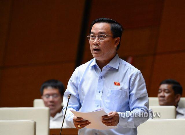 Đại biểu Nguyễn Quốc Hận phát biểu tại Quốc hội