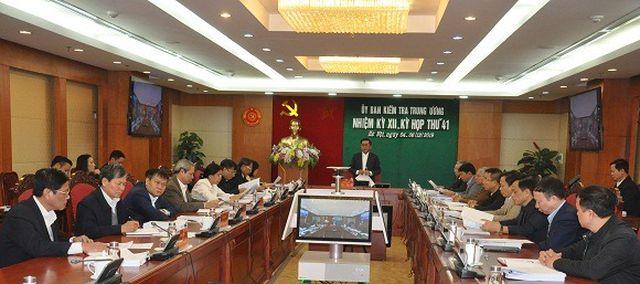 Kỳ họp thứ 41 của Ủy ban Kiểm tra Trung ương diễn ra từ ngày 4-6/12/2019.